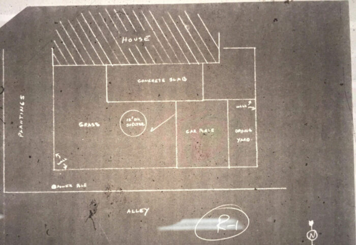 Architectural property drawing.