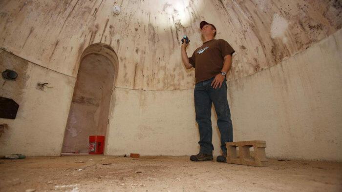 an underground bomb shelter