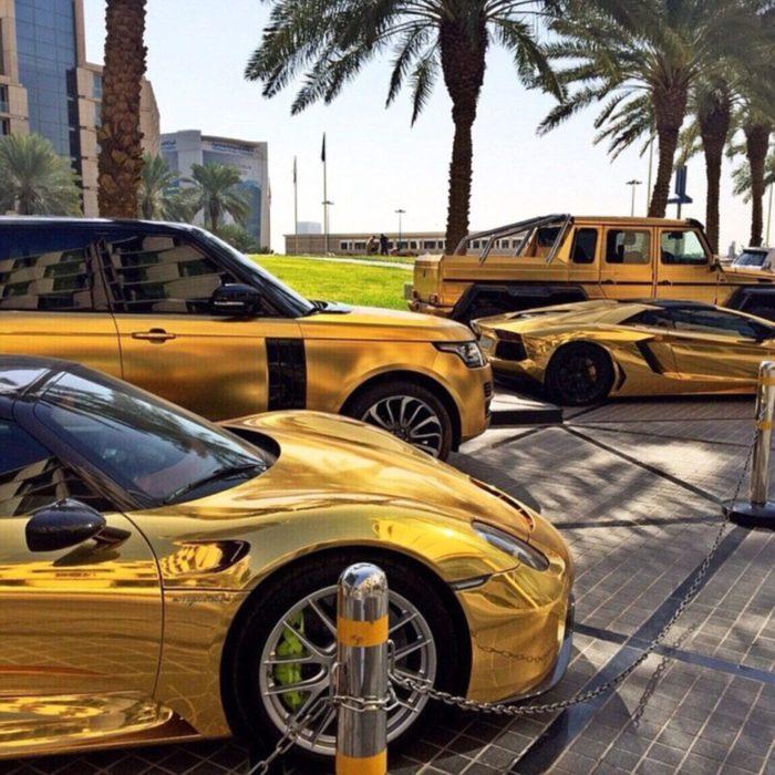 Gold cars in dubai