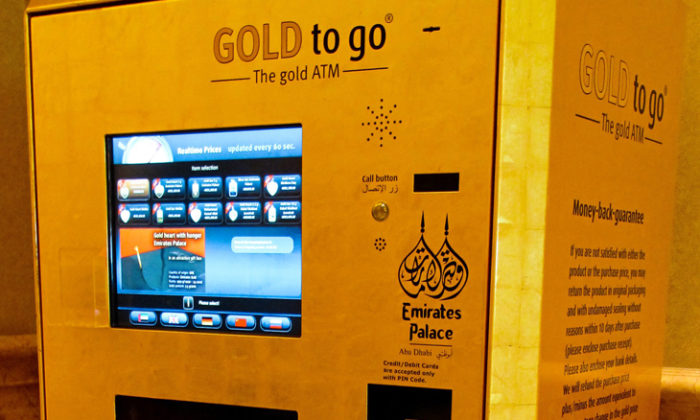 Gold ATM of Palace Hotel in Dubai