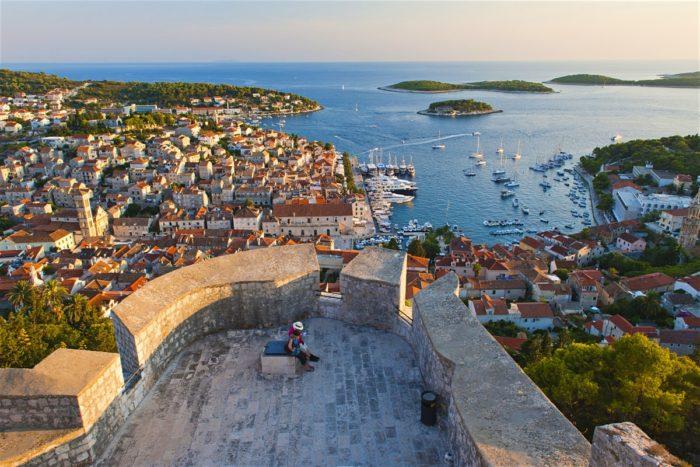 Beautiful view of Hvar, Croatia.