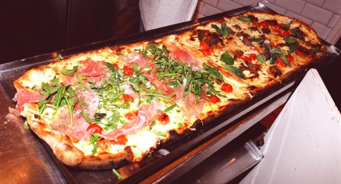 Meter long pizza in dubai