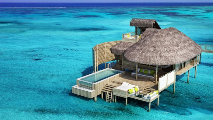 Overwater bunglow in Maldives