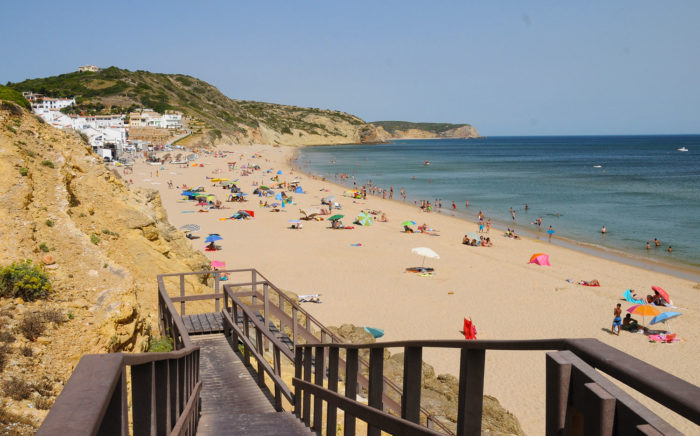 Praia Da Salema beach in Portugal