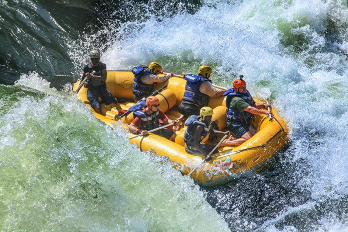 River rafting in Zambezi River, Zambia