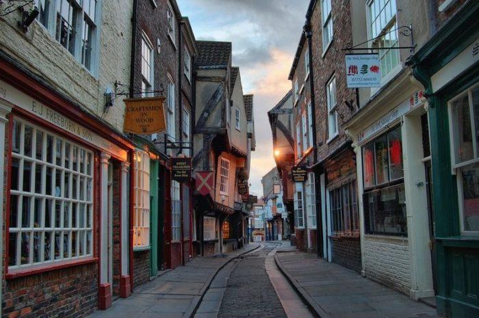 The Shamble Street in York, England.