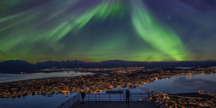 Northern lights in Tromso, Norway.