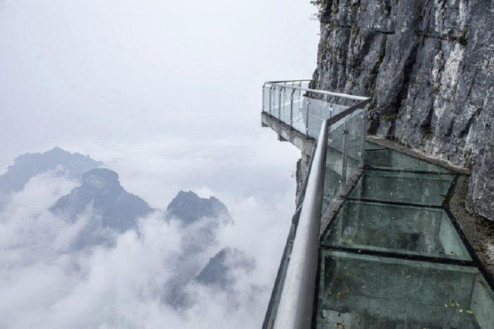 The walk of faith at Tianmen Mountain, China