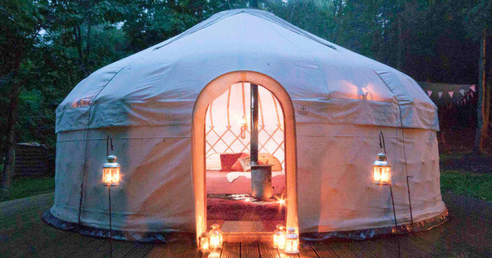 Yurt camping under the sky