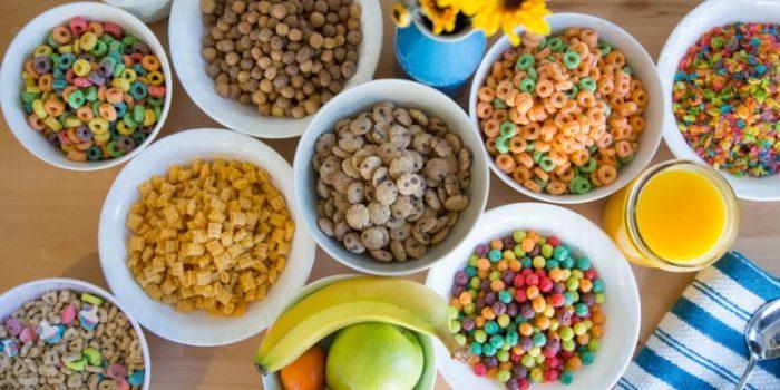 Different breakfast cereals
