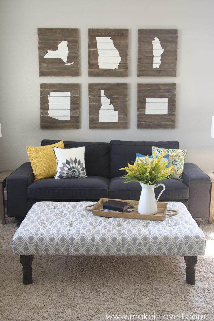 fabric padded coffee table