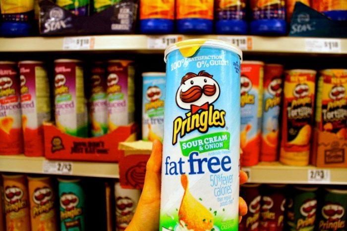 A fat free box of pringles
