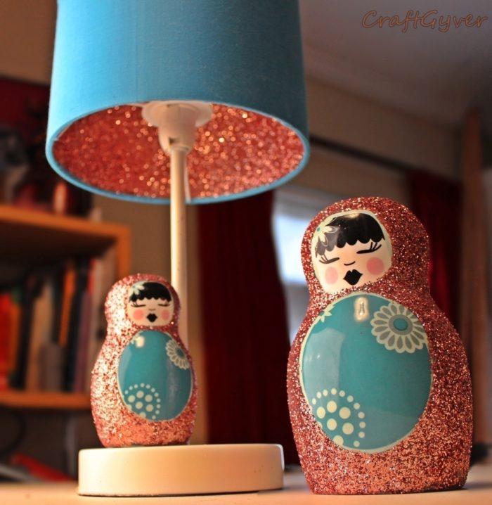 lampshade glitter embellishing