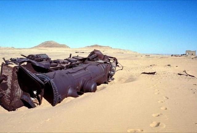 An Ottoman Supply Train Of The Hejaz Railway In The Desert
