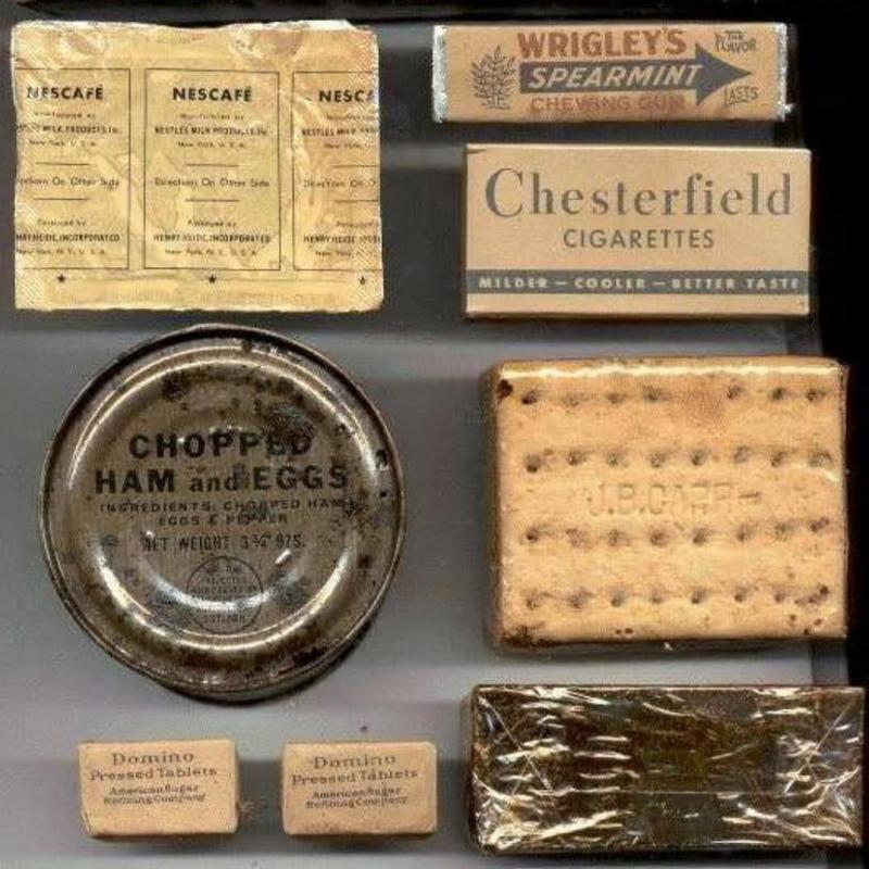 World War II Meal Rations Came With Gum And Cigarettes