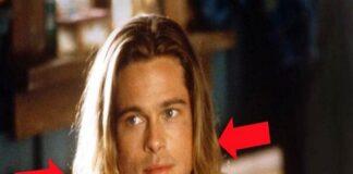 Brad Pitt's blond hair was very beautiful